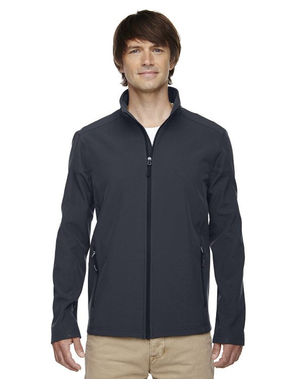 Ash City - Core 365 Men's Cruise Two-Layer Fleece Bonded Soft Shell Jacket Carbon