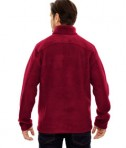 Ash City - Core 365 Men's Journey Fleece Jacket Classic Red Back