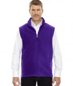 Ash City - Core 365 Men's Journey Fleece Vest Campus Purple