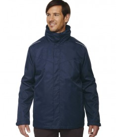 Ash City - Core 365 Men's Region 3-in-1 Jacket with Fleece Liner Classic Navy