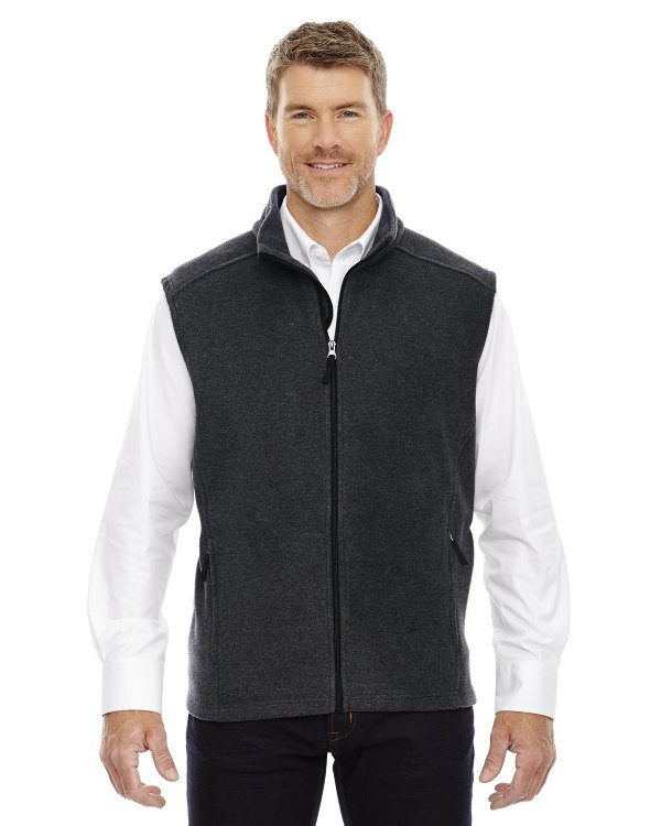 Ash City - Core 365 Men's Tall Journey Fleece Vest Heather Charcoal