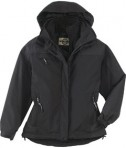 Ash City - North End Ladies' 3-In-1 Mid-Length Jacket Black Full View