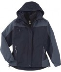 Ash City - North End Ladies' 3-In-1 Mid-Length Jacket Midnight Navy Full View