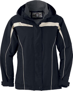 Ash City - North End LADIES' 3-IN-1 JACKET WITH DETACHABLE JACKET LINER Black Full View
