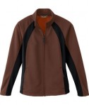 Ash City - North End LADIES' BONDED FLEECE JACKET Chocolate Brown