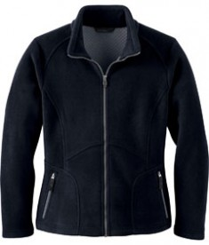Ash City - North End LADIES' BONDED JACQUARD FLEECE JACKET Black