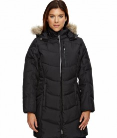 Ash City - North End Ladies' Boreal Down Jacket with Faux Fur Trim Black