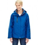 Ash City - North End Ladies' Caprice 3-in-1 Jacket with Soft Shell Liner Nautical Blue Front