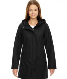 Ash City - North End Ladies' City Textured Three-Layer Fleece Bonded Soft Shell Jacket Black