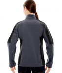 Ash City - North End Ladies' Compass Colorblock Three-Layer Fleece Bonded Soft Shell Jacket Fossil Grey Back