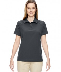 Ash City - North End Ladies' Excursion Crosscheck Woven Polo Graphite