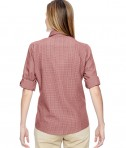 Ash City - North End Ladies' Excursion F.B.C. Textured Performance Shirt Back