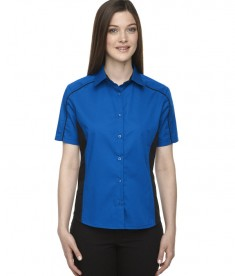 Ash City - North End Ladies' Fuse Colorblock Twill Shirt True Royal