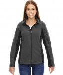 Ash City - North End Ladies' Generate Textured Fleece Jacket Carbon