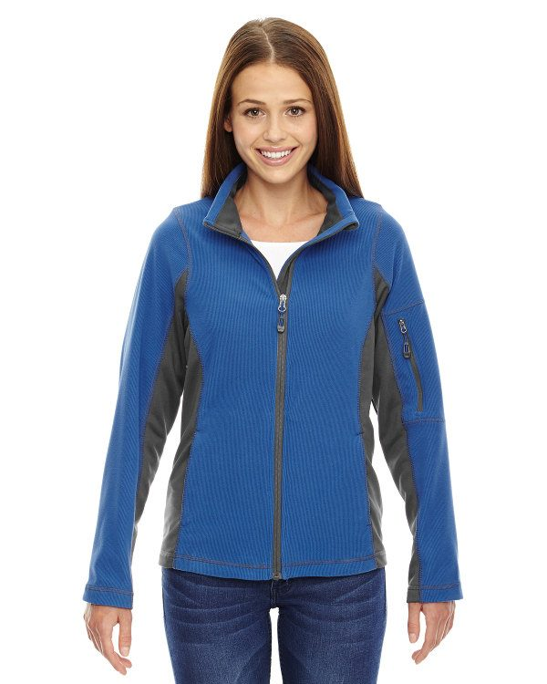 Ash City - North End Ladies' Generate Textured Fleece Jacket Nautical Blue