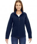 Ash City - North End Ladies' Generate Textured Fleece Jacket Night