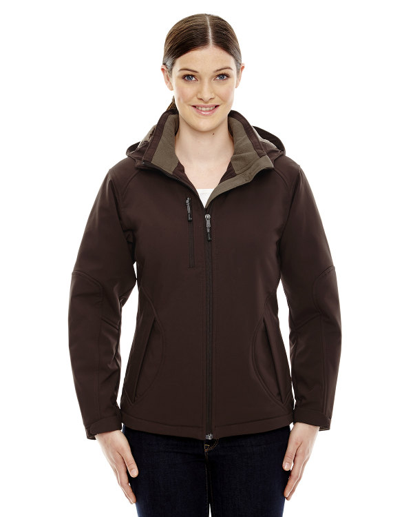 ash-city-north-end-ladies-glacier-insulated-three-layer-fleece-bonded-soft-shell-jacket-with-detachable-hood-dk-chocolate