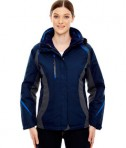 Ash City - North End Ladies' Height 3-in-1 Jacket with Insulated Liner Night Front