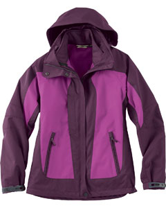 Ash City - North End Ladies' Performance 3-In-1 Seam-Sealed Mid-Length Jacket Plum Rose Full View