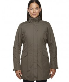 Ash City - North End Ladies' Promote Insulated Car Jacket DK Oakmoss
