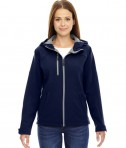 Ash City - North End Ladies' Prospect Two-Layer Fleece Bonded Soft Shell Hooded Jacket Classic Navy