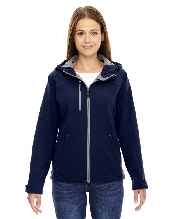 ash-city-north-end-ladies-prospect-two-layer-fleece-bonded-soft-shell-hooded-jacket-classic-navy