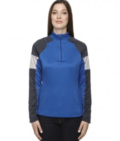 Ash City - North End Ladies' Quick Performance Interlock Half-Zip Top True Royal