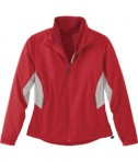 Ash City - North End LADIES' RECYCLED POLYESTER 7-IN-1 WIND JACKET WITH REVERSIBLE LINER Flame Red