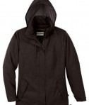 Ash City - North End LADIES' RECYCLED POLYESTER INSULATED TEXTURED JACKET DK Chocolate