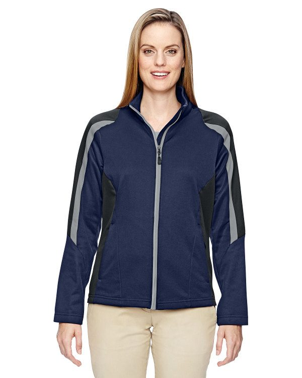 Ash City - North End Ladies' Strike Colorblock Fleece Jacket Classic Navy