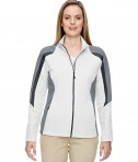 Ash City - North End Ladies' Strike Colorblock Fleece Jacket Crystal QRTZ