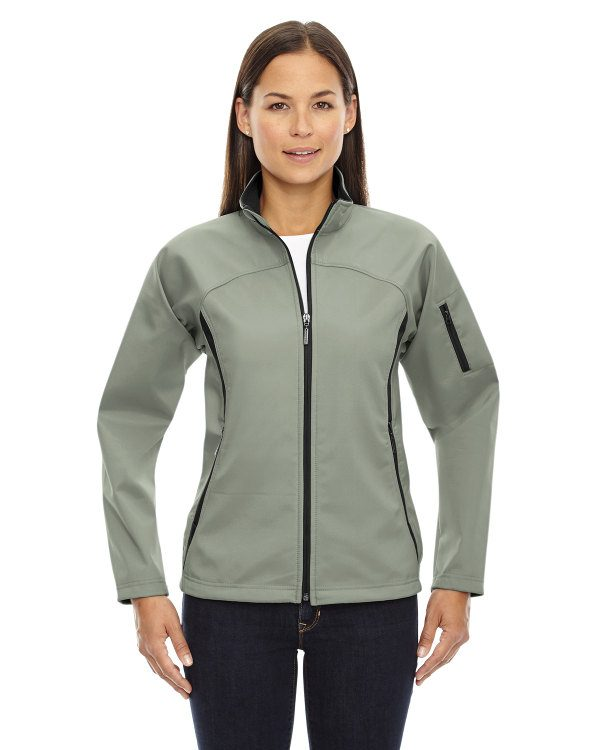 Ash City - North End Ladies' Three-Layer Fleece Bonded Performance Soft Shell Jacket Celadon