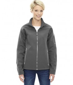 Ash City - North End Ladies' Three-Layer Fleece Bonded Soft Shell Technical Jacket Graphite