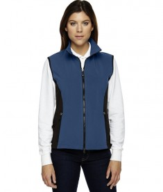 Ash City - North End Ladies' Three-Layer Light Bonded Performance Soft Shell Vest Regata Blue