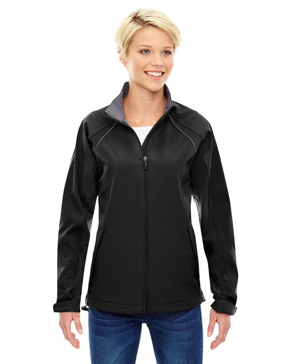 Ash City - North End Ladies' Three-Layer Light Bonded Soft Shell Jacket Black
