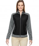 Ash City - North End Ladies' Victory Hybrid Performance Fleece Jacket Black