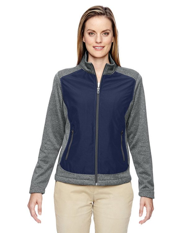 Ash City - North End Ladies' Victory Hybrid Performance Fleece Jacket Classic Navy
