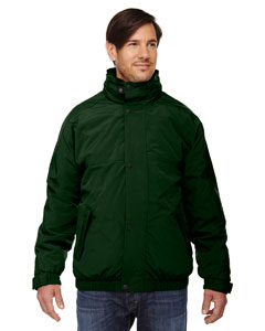 Ash City - North End Men's 3-in-1 Bomber Jacket Alpine Green Back