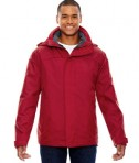 Ash City - North End Men's 3-in-1 Jacket Molten Red Front