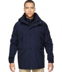 Ash City - North End Men's 3-in-1 Parka with Dobby Trim Midnight Navy Front