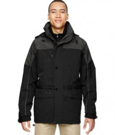 Ash City North End Men's 3-in-1 Two Tone Parka Jacket Alpine Black Front