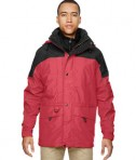 Ash City North End Men's 3-in-1 Two Tone Parka Jacket Alpine Molten Red Front