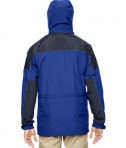 Ash City North End Men's 3-in-1 Two Tone Parka Jacket Alpine Royal Cobalt Back