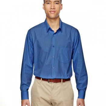 ash-city-north-end-mens-align-wwrinkle-resistant-cotton-blend-dobby-vertical-striped-shirt-deep-blue