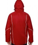 Ash City - North End Men's Angle 3-in-1 Jacket with Bonded Fleece Liner Classic Red Back