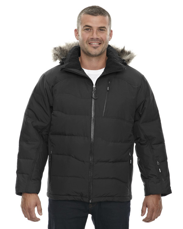 0f08bf842 Ash City - North End Men's Boreal Down Jacket with Faux Fur Trim