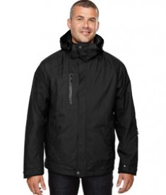 Ash City - North End Men's Caprice 3-in-1 Jacket with Soft Shell Liner Black Front