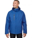 Ash City - North End Men's Caprice 3-in-1 Jacket with Soft Shell Liner Nautical Blue Front