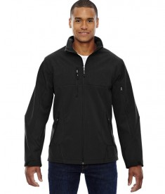 Ash City - North End Men's Compass Colorblock Three-Layer Fleece Bonded Soft Shell Jacket Black