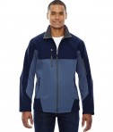 Ash City - North End Men's Compass Colorblock Three-Layer Fleece Bonded Soft Shell Jacket Blue Ridge